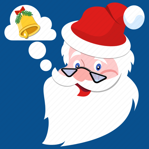 Beard, bell, christmas, claus, hat, jingle, santa icon - Download on Iconfinder