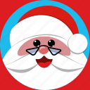 christmas, claus, face, hat, holiday, saint nick, santa claus icon