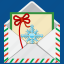 christmas, envelope, epistle, holiday, letter, message, snowflake icon