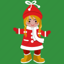 avatar, christmas, girl, holiday, smile, user, woman icon