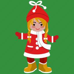 avatar, christmas, girl, holiday, smile, user, woman icon