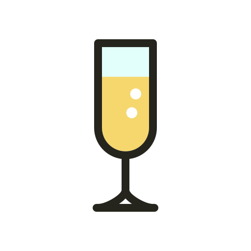 christmas, drink, food, glass, holidays, party icon