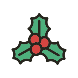 christmas, holidays, mistletoe icon