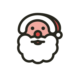 christmas, holidays, santa claus icon
