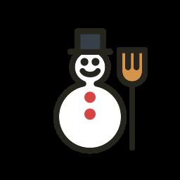 christmas, holidays, snowman icon