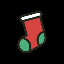 christmas, holidays, sock icon