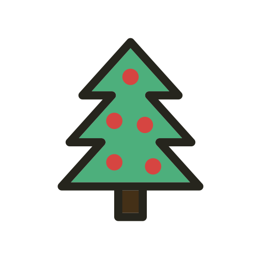 Christmas Tree Facebook Icon: Christmas, Christmas Tree, Holidays, Tree Icon