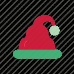 bonnet, christmas, christmas hat, color, hat icon