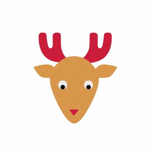 christmas, christmas animal, color, cute, deer, reindeer icon