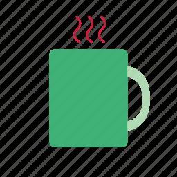 christmas, coffee, color, drink, hot drink, mug icon
