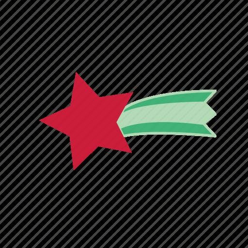 christmas, christmas star, color, rising star, star icon