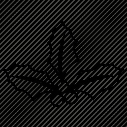 christmas, holly, mistletoe, xmas icon