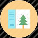 card, christmas, greeting card, snow icon icon