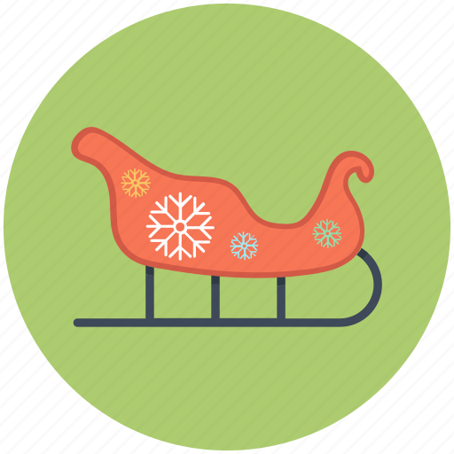 christmas, santa, sled, xmas icon icon