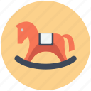 rocking horse, swing, toy icon, • horse icon