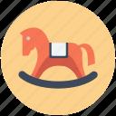 rocking horse, swing, toy icon, • horse icon