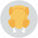 fried chicken, meat, turkey icon, • chicken icon