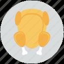 fried chicken, meat, turkey icon, • chicken icon