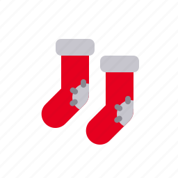 christmas, sock, socks, winter, winterwear, xmas icon
