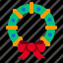 mistletoe, cherry, wreath, christmas, decoration, xmas