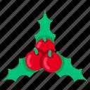 cherry, christmas, decoration, leaf, mistletoe, wreath, xmas