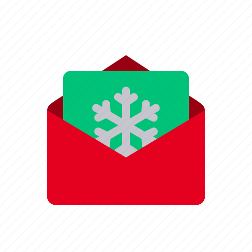 christmas, email, invitation, letter, message, snowflake, xmas icon