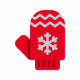 christmas, cold, gloves, mitten, protection, winter, xmas icon
