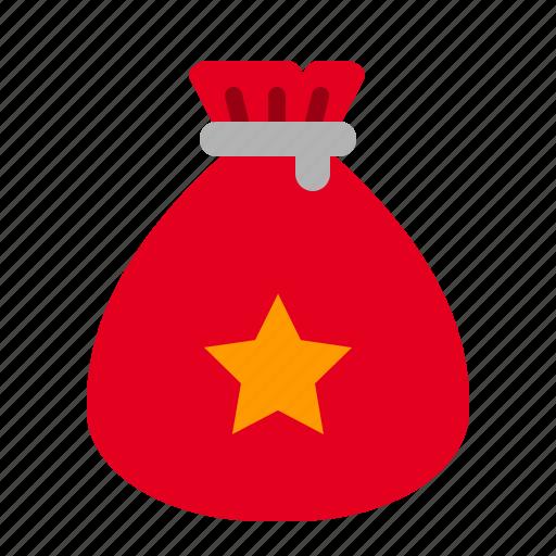 bag, christmas, gift, present, santa, xmas icon