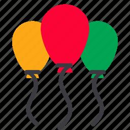 balloon, celebration, christmas, decoration, party, xmas icon