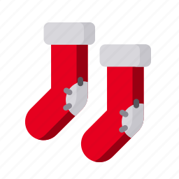 christmas, sock, socks, winter, winterwear, xmas icon