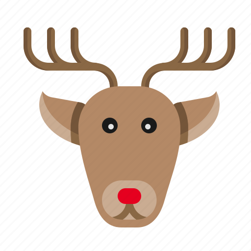animal, christmas, deer, raindeer, rudolf, santa, xmas icon