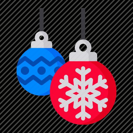 ball, christmas, decoration, light, snowflake, xmas icon