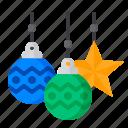 ball, christmas, decoration, light, snowflake, xmas