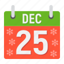 calendar, christmas, december, holiday, new year, xmas icon