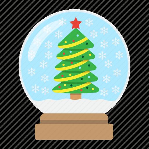 ball, christmas, globe, new year, snow, xmas icon