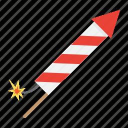 christmas, firework, holiday, new year, petard, rocket icon