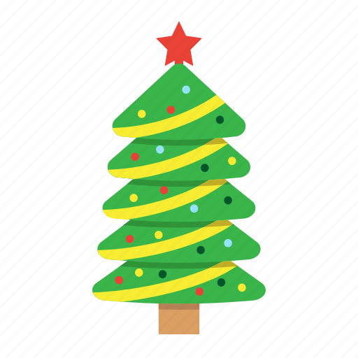 christmas, holiday, new year, star, tree, xmas icon