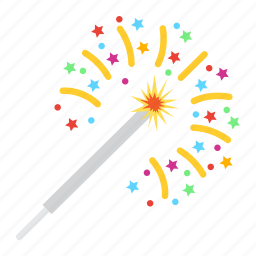 bengal, christmas, holiday, light, new year, sparkler icon