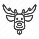 christmas, deer, elk, holiday, new year, reindeer icon