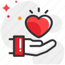 christmas, give, give love, hands, love icon
