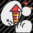 firecracker, fireworks, petard icon