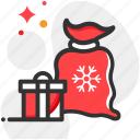 bag, christmas, sale, shopping icon