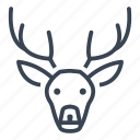 reindeer, deer, christmas, xmas icon