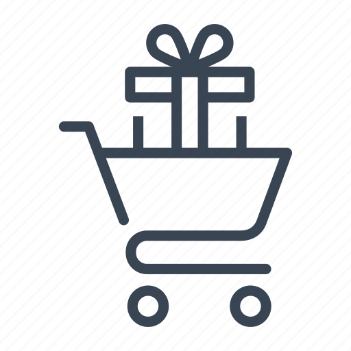 buy, cart, gift, purchase, shopping icon
