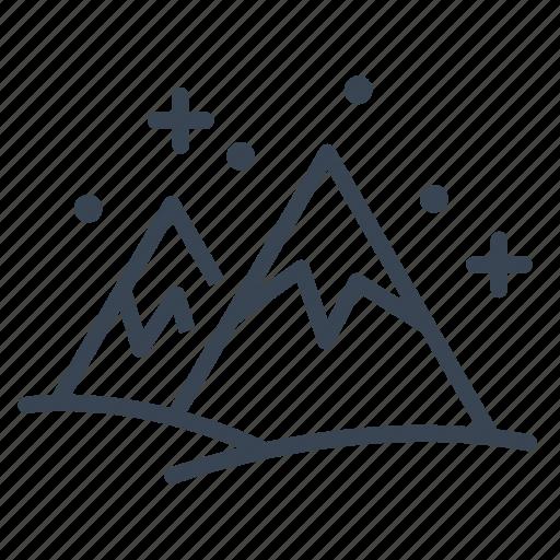 mountain, mountains, snow, winter icon