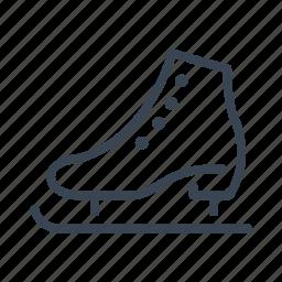 ice, skate, skating, winter icon
