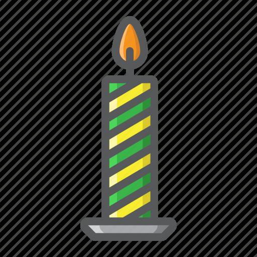candle, christmas, decoration, holiday, new year, xmas icon