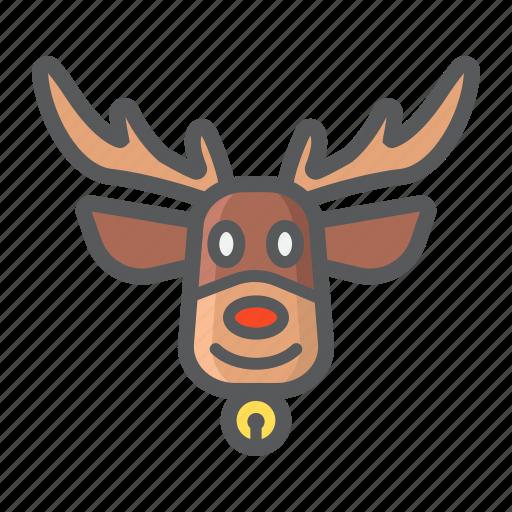 christmas, deer, elk, holiday, new year, reindeer icon