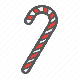 candy, cane, christmas, holiday, new year, xmas icon
