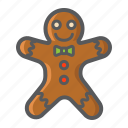 christmas, gingerbread, holiday, man, new year, xmas icon